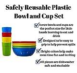 Plastic Bowls & Tumbler Combo Set by Arrow - BPA