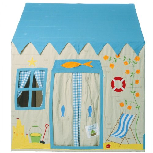 Lighthouse Appliqued - Win Green Cotton Play Tent Small Beach House