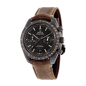 Reloj Omega Speedmaster Moonwatch Co-Axial, cronógrafo, con esfera negra, para hombre, 31192445101006 10