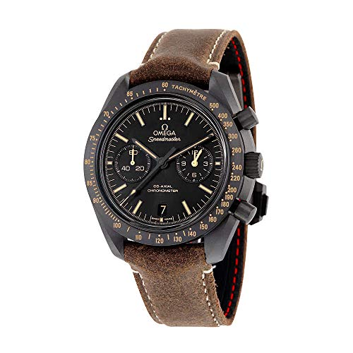 Omega Speedmaster Moonwatch Co-Axial Black Dial Chronograph Automatic Mens Watch 31192445101006 (Omega Speedmaster Chronometer)