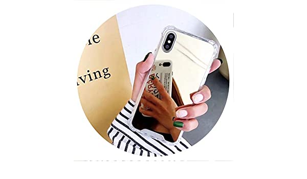 Amazon.com: Mirror Phone Case for iPhone 7 8 6s 6 Plus X XR XS Max Cute Soft TPU Shockproof Cover for Samsung Note9 Note8 S8 S9 Plus Case,Gold,for Samsung ...