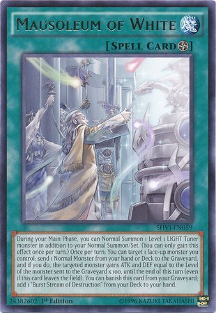 Yu-Gi-Oh! - Mausoleum of White (SHVI-EN059) - Shining Victories - 1st Edition - Rare (Best Field Spell Cards)