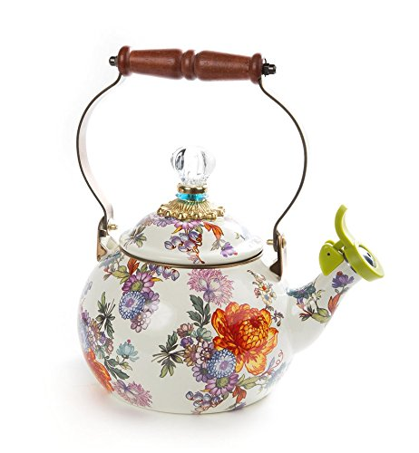MacKenzie-Childs Flower Market 2 Quart Whistling Tea Kettle