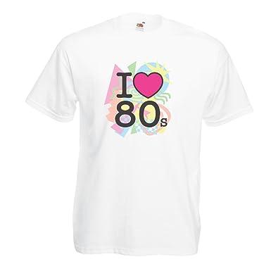 lepni.me Camisetas Hombre Amo los años 80s Música Camisetas, Regalos: Amazon.es: Ropa y accesorios