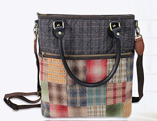Women Patchwork Handbag Crossbody Shoulder Bag Quitling Kit Sewing Project Kits