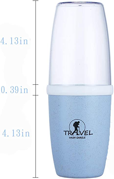 Details about  /Portable Toothbrush Cup Toothbrush Case Removable Cover Home Mouthwash Cup 6T