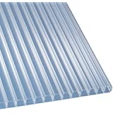 Polycarbonat Stegplatten Hohlkammerplatten klar 2500 x 1200 x 16 mm (33,20 EUR/qm)