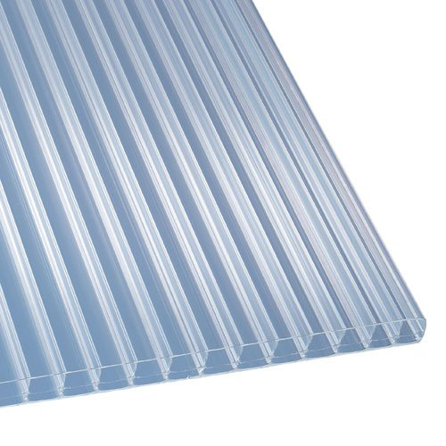 Polycarbonat Stegplatten Hohlkammerplatten klar 3000 x 1200 x 16 mm (32,56 EUR/qm)