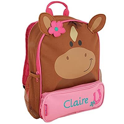 Personalized Stephen Joseph Horse Sidekick Backpack with Embroidered Name lovely