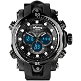 INFANTRY 51mm Big Face Mens Tactical Military Digital Watch Large Black Sports Wrist Watches for Men