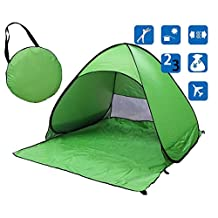 Doshop Portable Outdoor Automatic Pop Up Instant Quick Cabana Beach Tent Sun Shelter Canopy Sun Shade Sport Shelter Family Kids Baby Outdoor Camping Fishing Picnic Hiking (Green)
