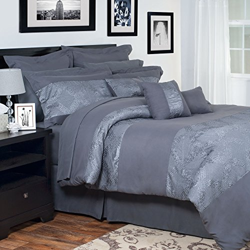 Lavish Home 13-Piece Ellie Embroidered Comforter Set, Queen