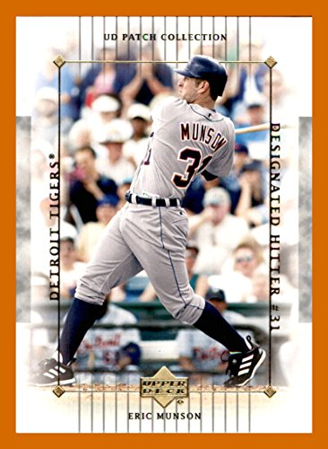 2003 Upper Deck Patch - 2003 Upper Deck UD Patch Collection #40 Eric Munson DETROIT TIGERS
