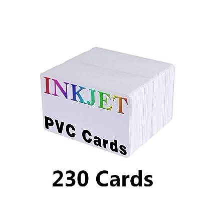 Gens Inkjet Tarjetas de PVC (230 unidades) - 30 mil ...
