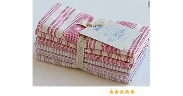 Yardage Gift TILDA TEA TOWEL Basics Biscuit Stripes Blue Sku 130061 Tilda Quilt Fabric By the Yard