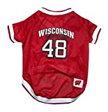 NCAA Dog Jersey, Medium, University of Wisconsin Badgers