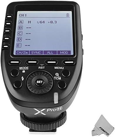 Godox Xpro-N TTL Drahtloser Blitz Trigger Bulit-in 2.4G X System 1 / 8000s HSS für Nikon Kamera, TTL-Convert-Manual Funktion, Großbild Schräg