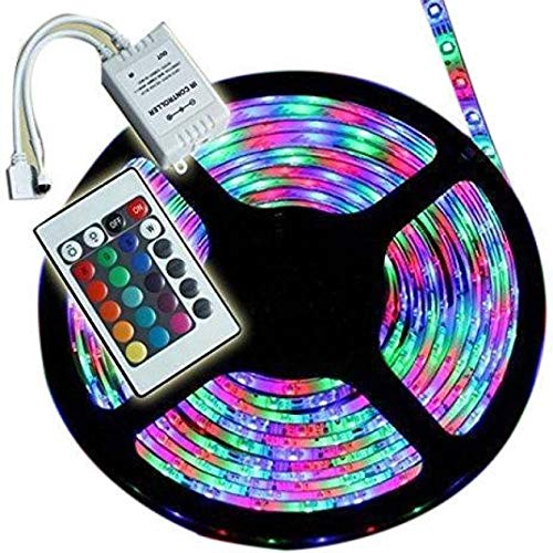 MLD RGB Remote Control Plastic LED Strip Light Colour Changing for Diwali and Christmas Lighting (Multicolour)