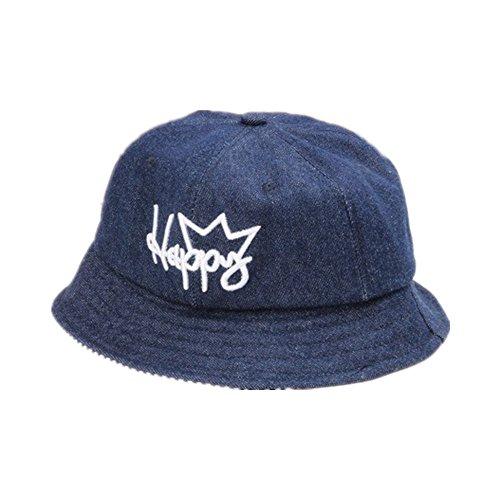 BBPIG Baby & Toddler Organic Cotton Reversible Bucket Hat Infant Sun Protection Bucket Cap Hat (Dark Blue Denim)
