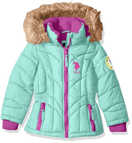 U.S. Polo Assn. Girls' Bubble Jacket with Hood