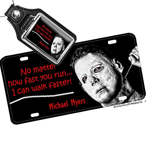 halloween-michael-myers-license-plate-and-matching-key-ring