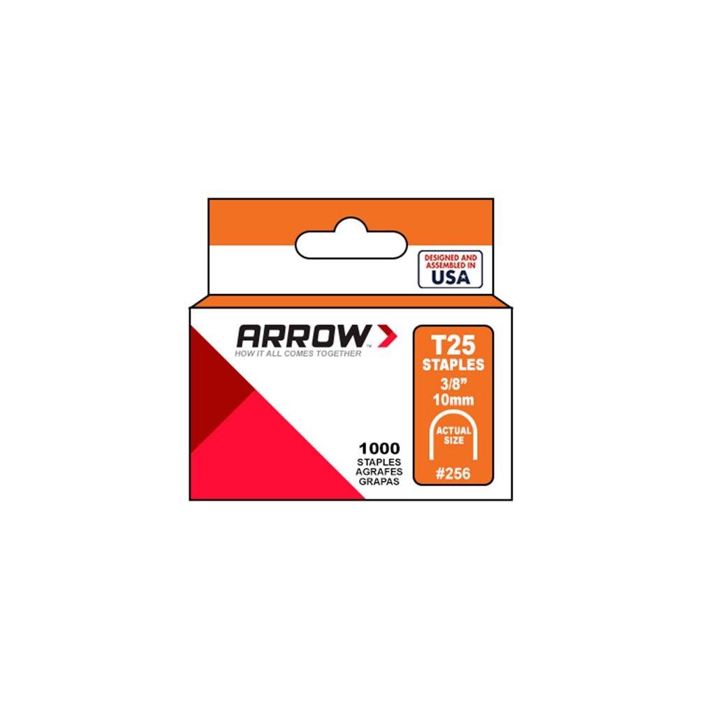 Arrow 160641 Pack de 5 bo/îtes de 1000 cavaliers t25 11 mm pour c/âble /ø 6 mm Argent