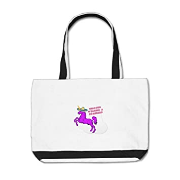 Plusone Unicorn Sombrero Rainbow Personalised Classic Tote Bag   Amazon.co.uk  Kitchen   Home 69d6fa7718d