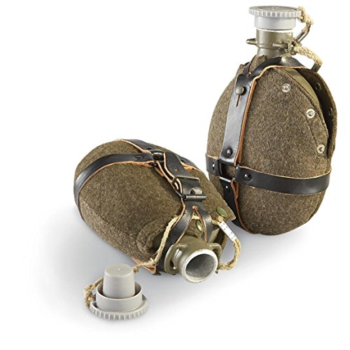 Czech Military Army Surplus M60 Aluminum Canteen Water Bottle Flask and (Army Surplus Canteen)