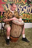 Hand-carved African Solid Wood Conga Drum - 13x30 - Super Tumba with Bass