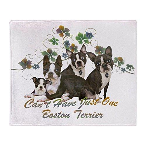 CafePress - Boston Terrier Four - Soft Fleece Throw Blanket, 50