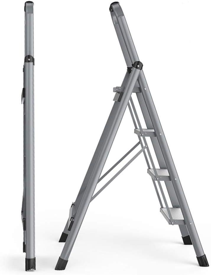 ZHAOYONGLI Escalera Plegable de aleación de Aluminio, escaleras Gruesas para Interiores, escaleras multifunción, Escalera pequeña Escalera: Amazon.es: Juguetes y juegos