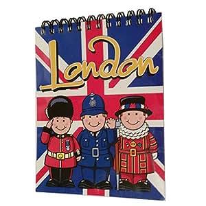 Diario/cuaderno con diseño de bandera de Reino Unido,  papel a líneas, profesional, lleva la Guardia Real a casa, producto de calidad, maravilloso recuerdo del Reino Unido, S01