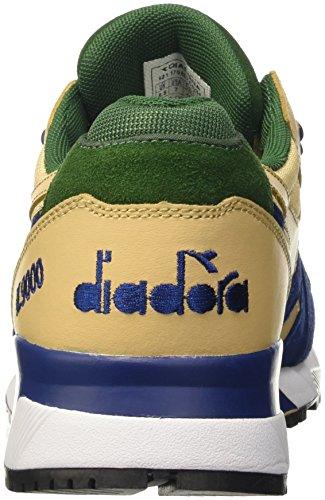 Diadora N9000 Double L Scarpe Low-top Unisex-adulto Beige beige Juta blu Estate vd Fogli