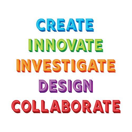 Creative Teaching Press STEM/STEAM Jumbo Words Bulletin Board Set (3116)