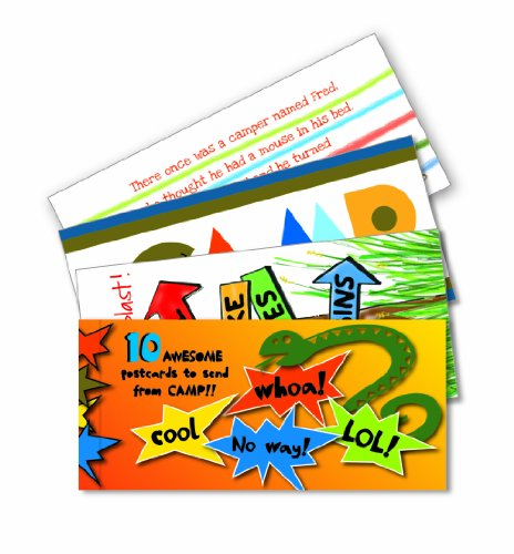 UPC 613540112005, 10 Bright Assorted Summer Camp Postcards Per Booklet
