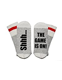 Shhh... The Game is On! Wool Winter Novelty Crew Socks Unisex