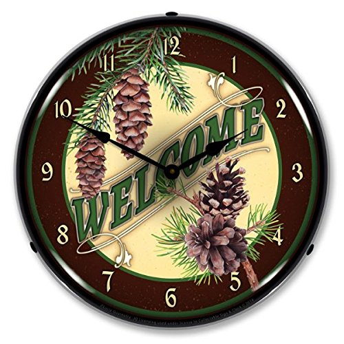 New Welcome Retro Style Backlit Clock