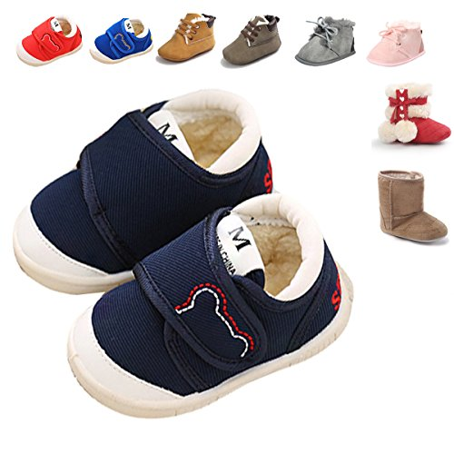 baby-shoes-sneakers-winter-infant-for-girls-boys-canvas-cotton-fleece-brown-red-blue-pink-deeply-dis
