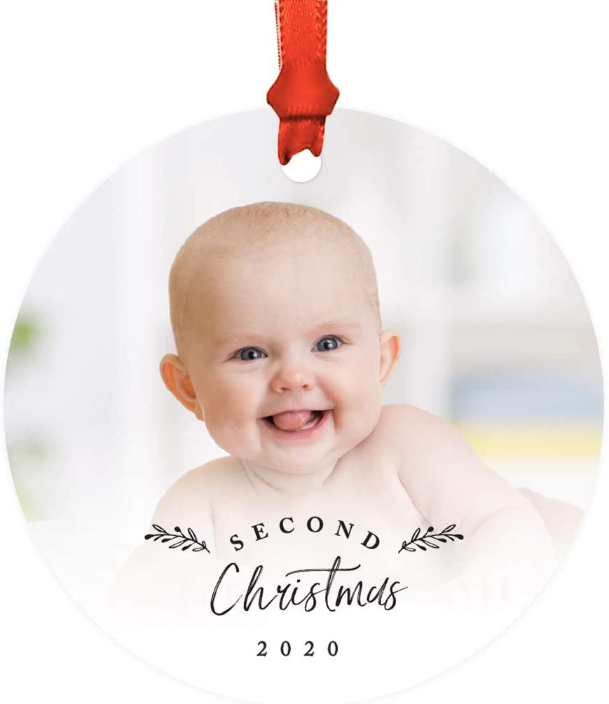 Babys Second Christmas 2020 Amazon.com: Andaz Press Photo Personalized Metal Keepsake Baby's