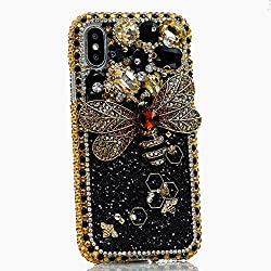 Gold Crystals Sparkle Case For iPhone Max