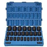 "Grey Pneumatic (8029D) 3/4"" Drive 29-Piece Deep Fractional Master Socket Set"