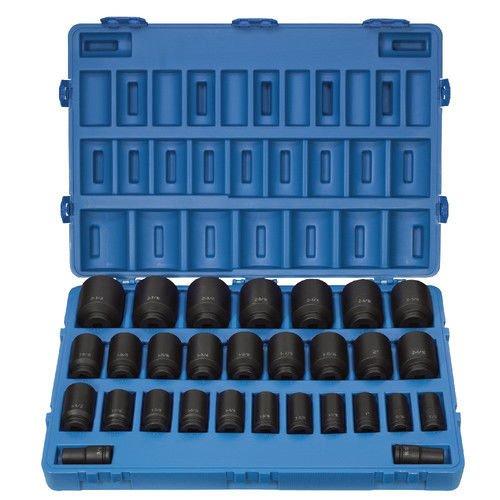 Grey Pneumatic (8029D) 3/4' Drive 29-Piece Deep Fractional Master Socket Set