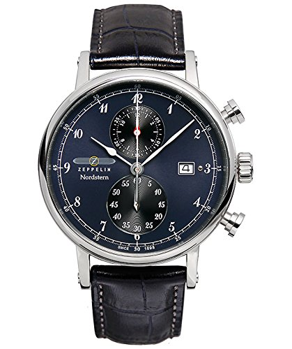 Zeppelin Nordstern Series Two-Eye Swiss Quartz Chronograph 7578-3