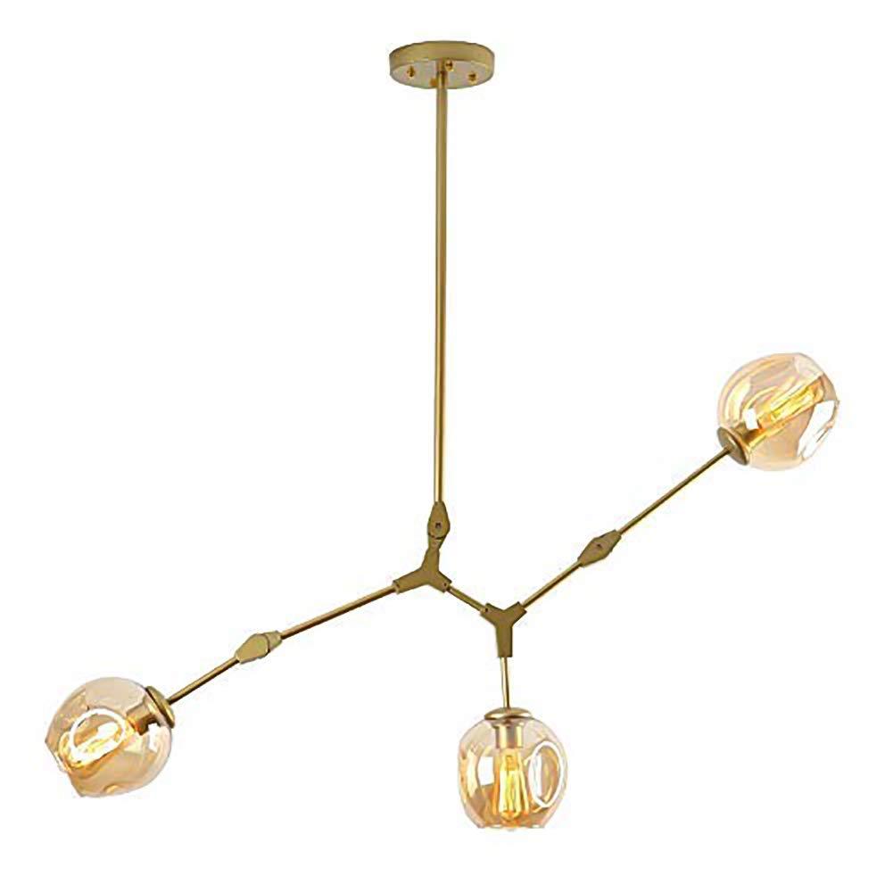 Antique Ramification Lampe Suspension Globe R/églable Verre Souffl/é Abat-jour En Verre E27 Fer Forg/é Antique Lustres-ambre 8 Lumi/ères CCSUN Nordique Boule En Verre Spoutnik Lustres