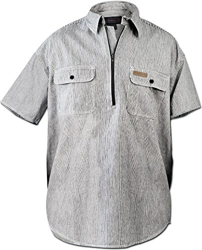Hickory Shirt Co. Short Sleeve 1/2 Zip Shirt - Regular Length LARGE