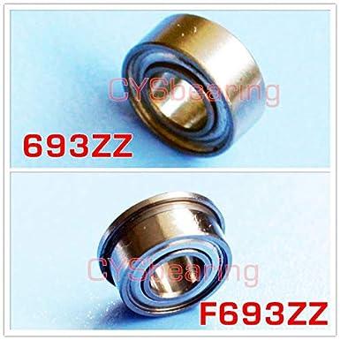 3x8x4 mm 693ZZ Metal Double Shielded Ball Bearing Bearings 693z 5 PCS