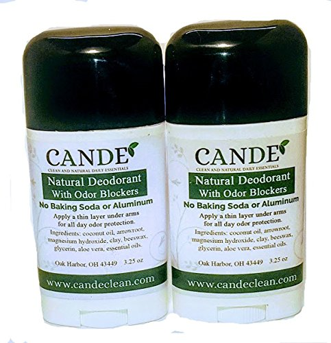 Natural Deodorant SET OF TWO by CANDE