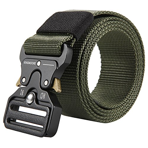 Men's Tactical Belt Heavy Duty Webbing Belt Adjustable Military Style Nylon -