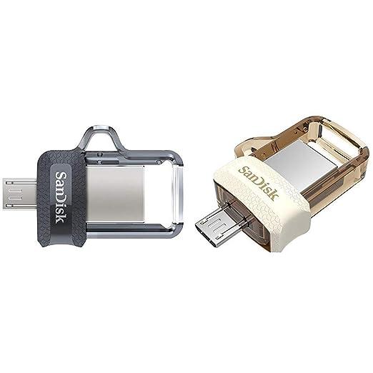SanDisk Ultra Dual 32 GB OTG Pen Drive Pack of 2  Black, Gold  Pen Drives