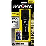 Rayovac DIY3AAA-BC - Virtually Indestructible Linterna LED de 250 lúmenes y 3 baterías AAA